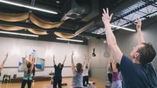People enjoying yoga at the studio space